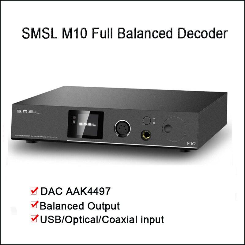 SMSL M10 Bureau DAC amplificateur audio USB DAC AK4497 XMOS Décodeur DSD512 Équilibré amplificateur de casque Sortie