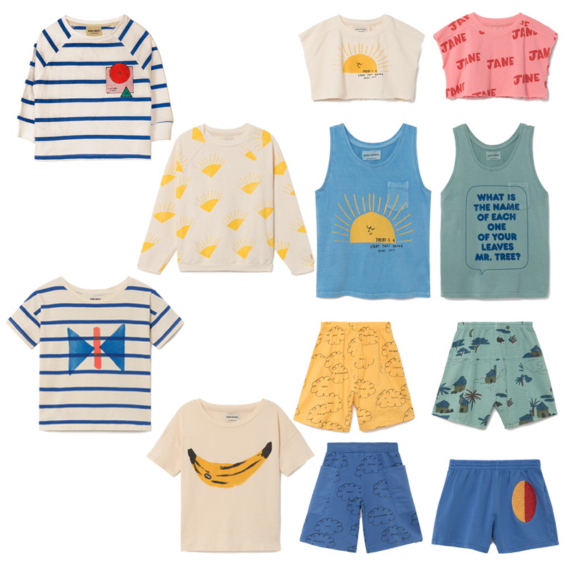 Pre-sale Boys Clothing Sets Baby Girl Cotton Clothes Toddler Kids Tops T-shirts Shorts Bobo Choses 2018 Spring Summer Clothing 2pcs children outfit clothes kids baby girl off shoulder cotton ruffled sleeve tops striped t shirt blue denim jeans sunsuit set