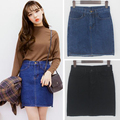 harajuku casual skirts 2017 korean women skirt spring summer style retrohigh waist jeans skirt college wind skirts womens