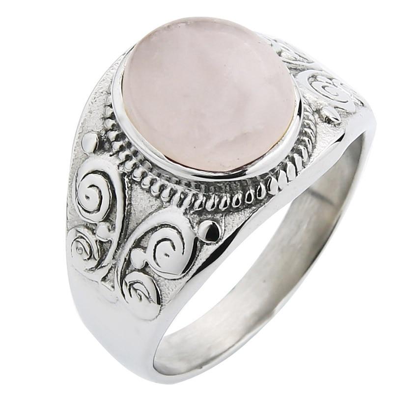 Silver-Rose quartz