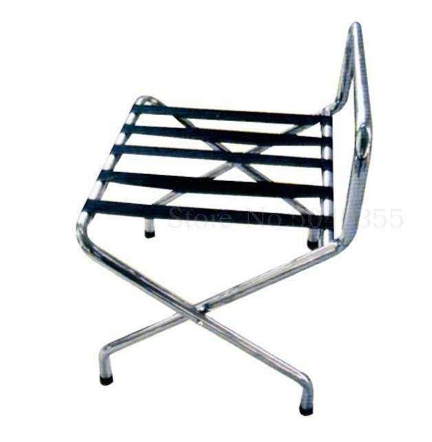 Hotel luggage rack stainless steel rack hotel room folding luggage clothing tray rack home office - Цвет: VIP 4