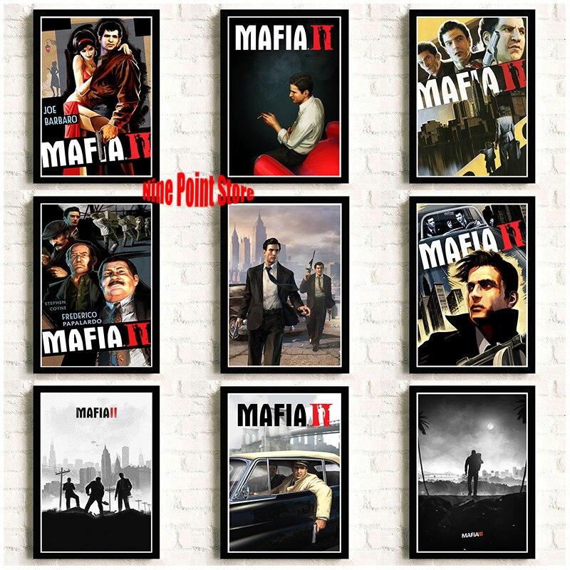 Mafia 2 3 Game Hot Artistic Coated Paper Poster Game Class Home Decor Wallpaper 42*30cm