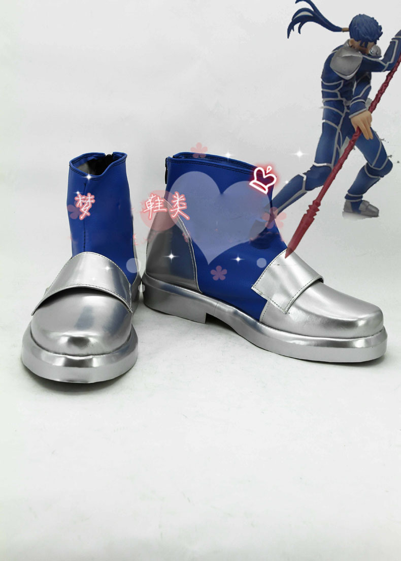 Anime Fate stay night Lancer Cosplay Boots costume shoes Custom Made Halloween Free Shipping