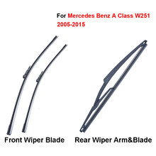 цена на Pair Windscreen Wiper Blades For Mercedes Benz A Class W251 2005-2015,Fit Windshield Rubber Wipers Arm,Car accessories