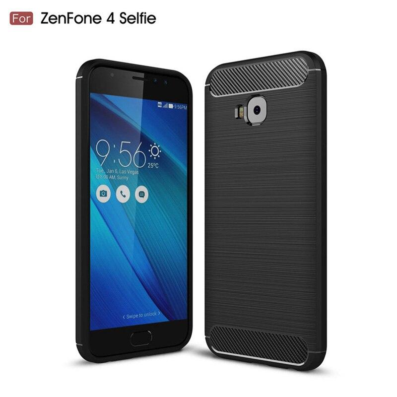 Чехол для Asus Zenfone 4 селфи zd552kl углерода Волокно силиконовые матовый кожи ультра тонкий чехол для Asus Zenfone 4 селфи zd552kl