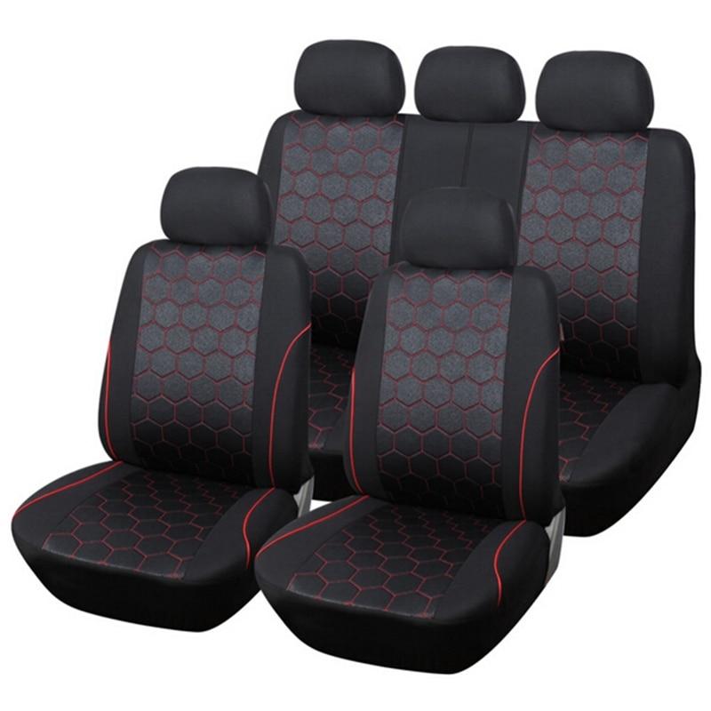 Car Seat Cover Sports fashion styling Accessories Red For TOYOTA RAV4 Highlander PRADO Corolla Vios Yaris Prius Camry Crown Reiz
