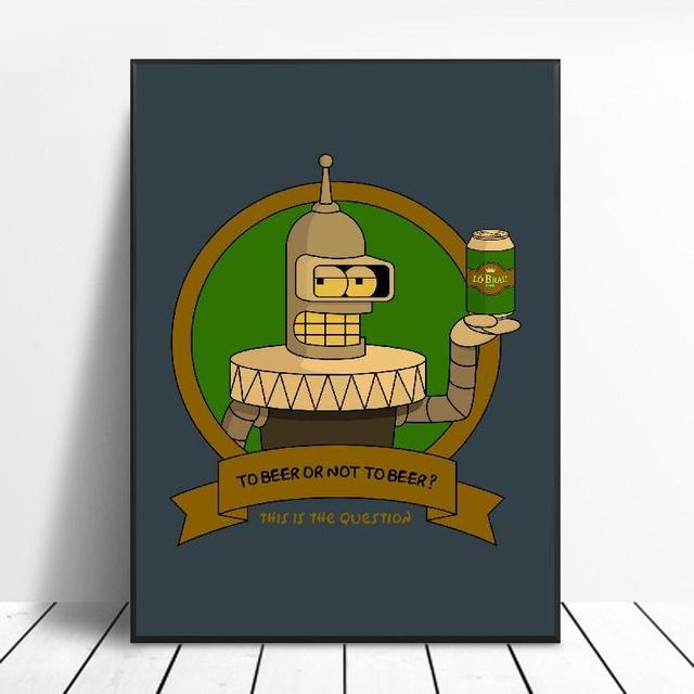 Simpsons And Art Painting Canvas poster Wall Art Pictures for Living Room Home Decoration No Frame