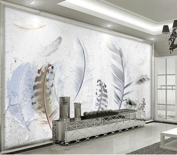 3D 5D 8D Photo Wall Mural Abstract Wallpaper Feather Wall Papers Landscape 3D Photo Wall Paper For Living Room Bedroom Custom