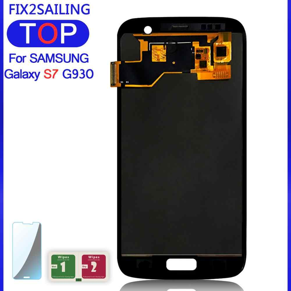100% LCD Test For SamSung Galaxy S7 G930 G930F LCD Screen Display Toque Digitador Assembléia