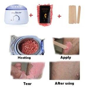 Image 2 - Горячий воск теплее комплект безопасности Постоянная температура безболезненное удаление волос воск нагреватель машина (500cc)+ 100 г Твердые восковые бобы