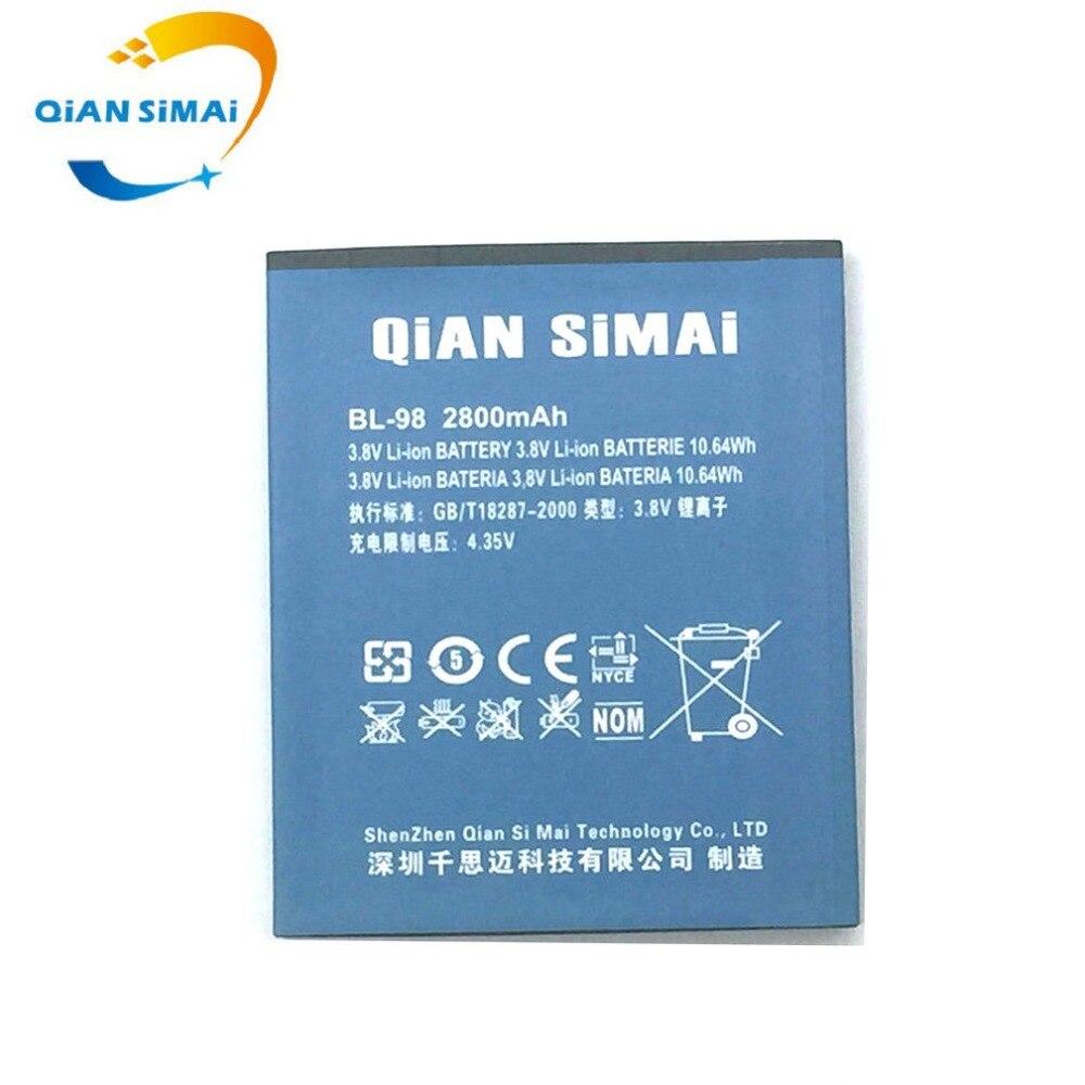 QiAN SiMAi New Original Li-ion batterie pour Newsmy Newman N2 Freelander I20 Highscreen Explosion BL-98 Batterie Batterij Bateria