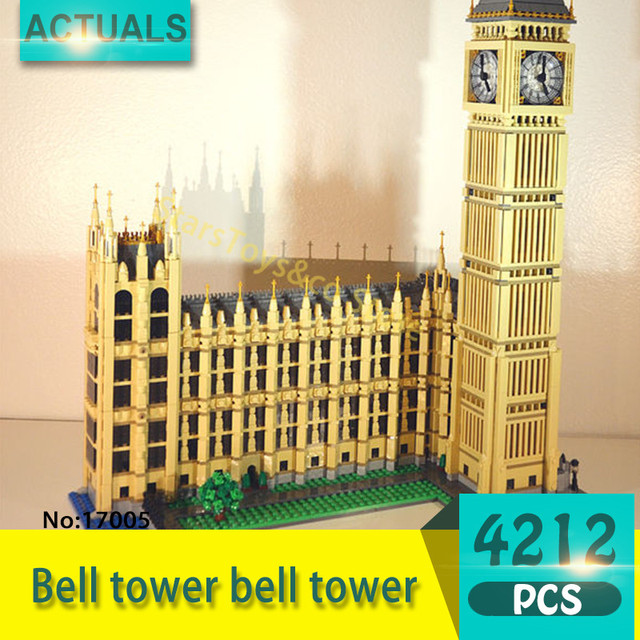 17005 4212Pcs Street View series London Big Ben Model Building Blocks Set  Bricks toys For Children