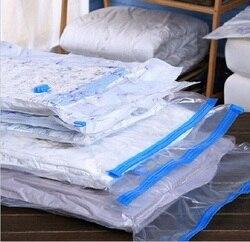Vakuum Beutel Für Kleidung Mit Ventil Transparent Grenze Faltbare Organizer Hause Quilt Lagerung Tasche kleiderschrank veranstalter