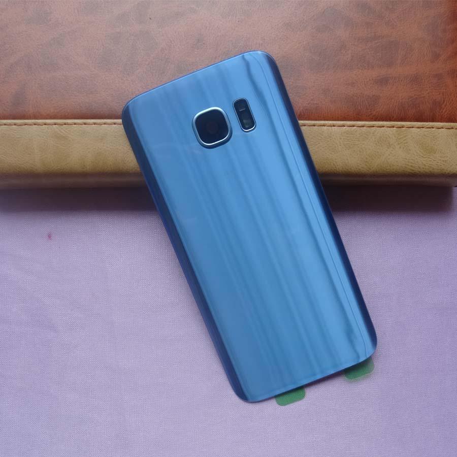 Batterie Zurück Abdeckung Tür Gehäuse Ersatz Reparatur Teile + hinten Kamera Glas Objektiv Rahmen Für Samsung Galaxy S7 G930 S7 rand G935