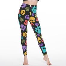 여성 레깅스 슬림 디지털 인쇄 기하학 스트 라이프 새로운 레깅스 봄 여름 대형 패션 여성