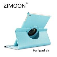 Zimoon Caso Para el ipad de Apple de Aire Auto Wake Up Sleep Tirón Magnético Cubierta de Cuero Del Lichí Con El Sostenedor del Soporte de Smart