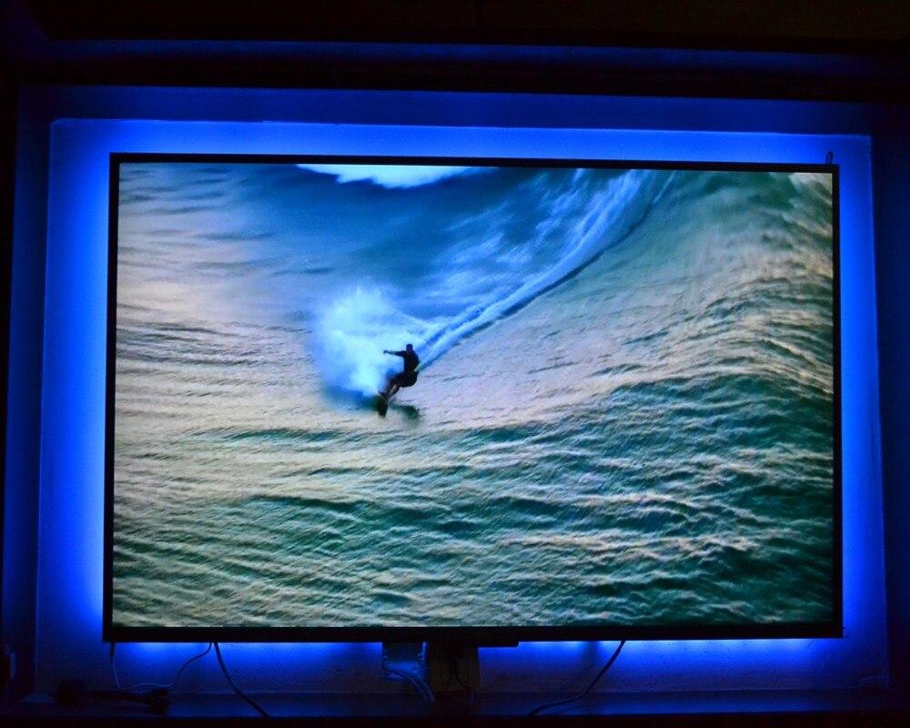 Rgb led tv retroilluminazione usb powered led tv luce di striscia