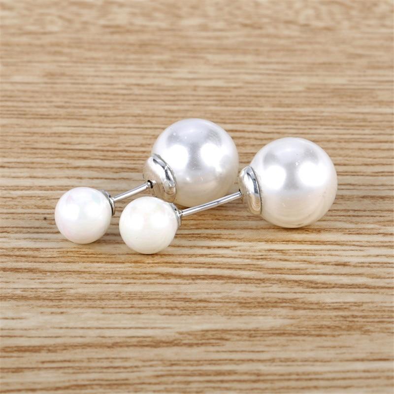 2019 New Fashion Women Earrings 925 Sterling Silver Branded Elegant White Pearl Earring Studs Lady Fine Birthday Jewelry Gift in Stud Earrings from Jewelry Accessories