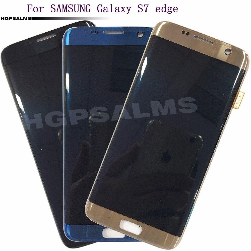 Pour SAMSUNG Galaxy S7 bord AMOLED LCD affichage écran tactile numériseur panneau verre capteur assemblée