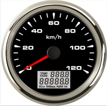 все цены на 12V/24V 85mm GPS Speedometer Gauges 0-120km/h Waterproof Speed Odometers Speed Mileometers Trip Gauge Cog for Auto онлайн