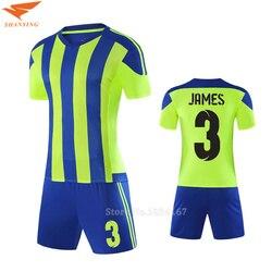 Men Customized Soccer Jerseys Adult DIY Sports Kits 2017 Survetement Football Suits Training Jerseys College Soccer Uniform Sets