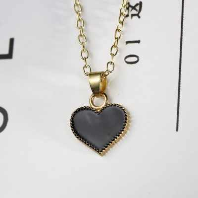 2019 Hot New Trendy Red Heart Pendant Necklace Clavicle Chain Choker For Women Wholesale Jewelry Gift