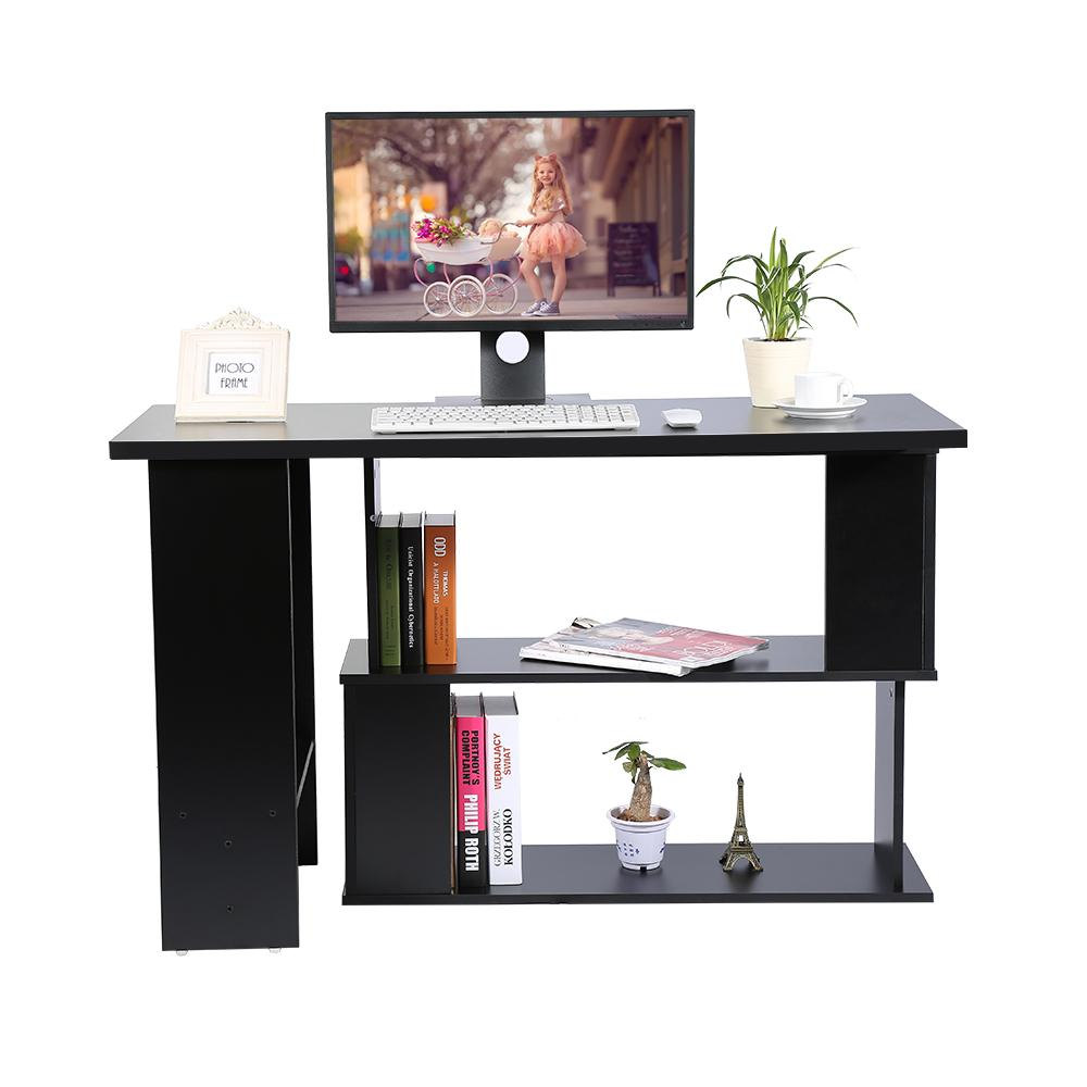 Folding Corner Computer Desk L-Shape PC Laptop Table Tabletop Home Office Workstation Kids Study Writing