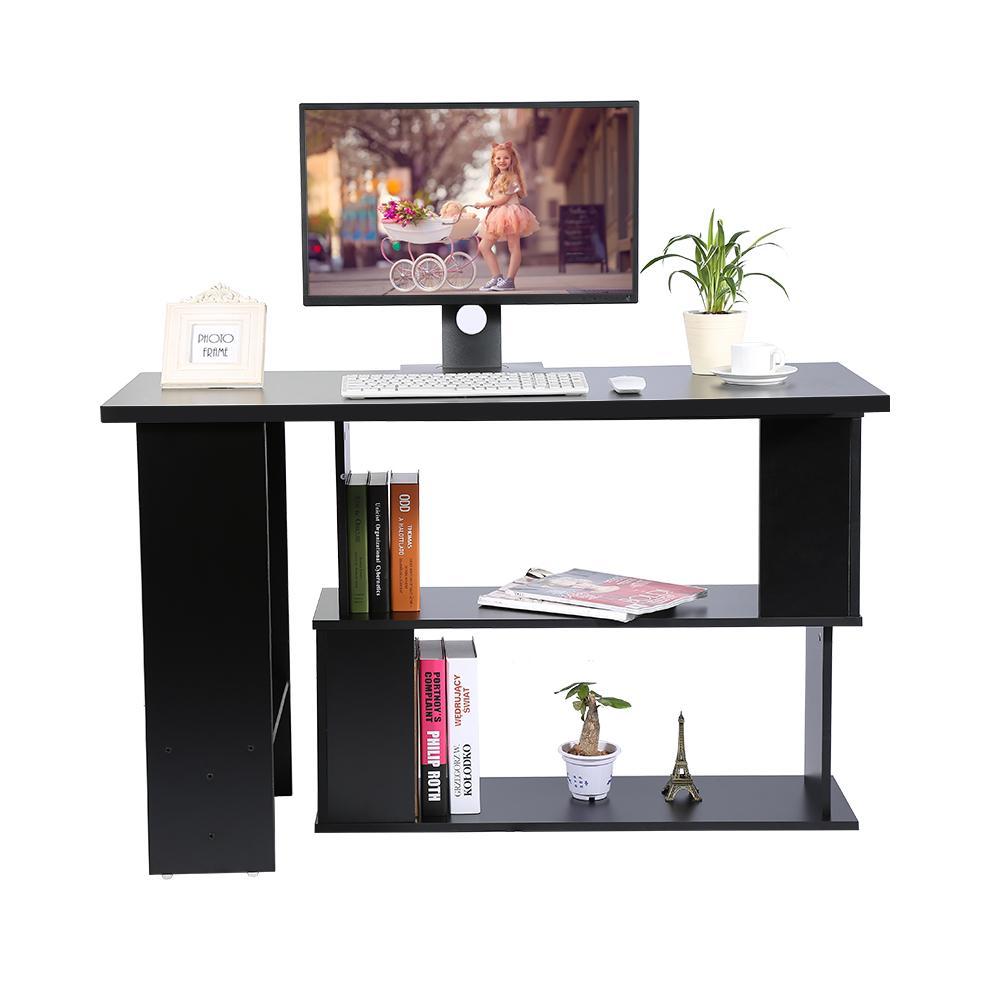 L Shaped Corner Desk Computer Workstation Home Office: Folding Corner Computer Desk L Shape PC Laptop Table