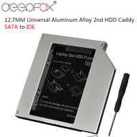 """Boîtier rigide en aluminium 2nd HDD SSD 12.7mm IDE vers Sata pour boîtier de support pour disque dur 2.5 """"pour HP DELL ACER"""