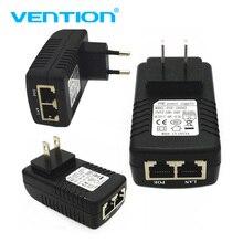 "חם Cctv 48 V/24 V 0.5A POE קיר תקע Poe מזרק Ethernet מתאם ממיר Ip המצלמה POE טלפון אספקת חשמל בארה""ב האיחוד האירופי Plug DropShip"