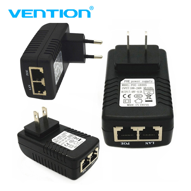 High Quality 48V 0.5A Wall Plug POE Injector Ethernet Adapter For CCTV Camera