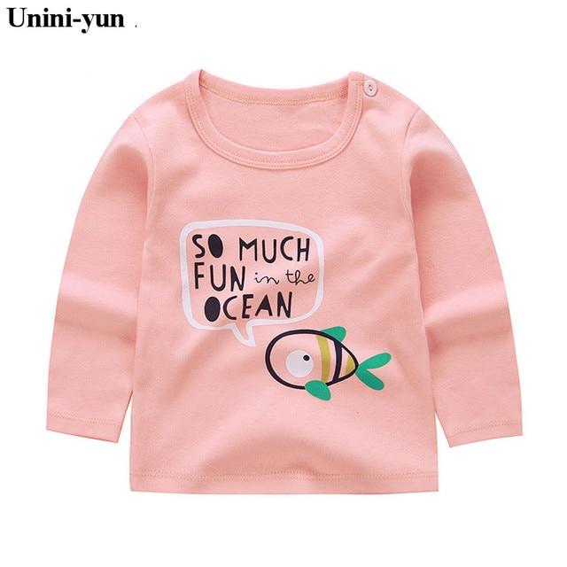 679047cad0fdb Autumn Spring Toddler Kids Baby Girls Boys Cute Fish print Shirt Long  Sleeve Princess Pink Tops Clothes children clothing
