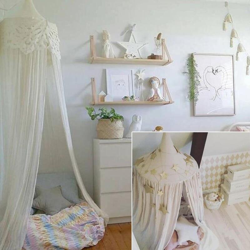 los nios cama con dosel mosquitera cpula cortina que cuelga beb de suministro