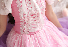 Pink Princess Sissy Lolita Lace Dot Mesh Uniform Shirt Blouse