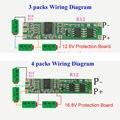 3 s 4S BMS Bateria Protecção Bordo PCB para 3-4 packs 3.7 v Li-ion 18650 Células de Bateria de lítio