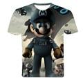 New Fashion Men's Short Sleeve Polyester 3D O-Neck t shirt Lightning / Lizard /3D Water Printed T shirt Mens T-Shirt