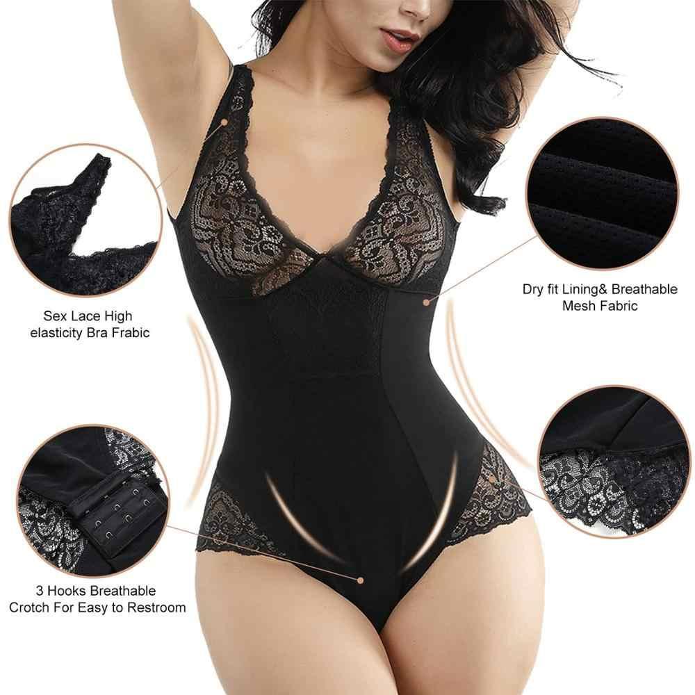 HEXIN сексуальный глубокий V боди для женщин, пояс для всего тела, корректирующее белье, трико для тела, контроль животика, подтяжка ягодиц, кружевной формирователь