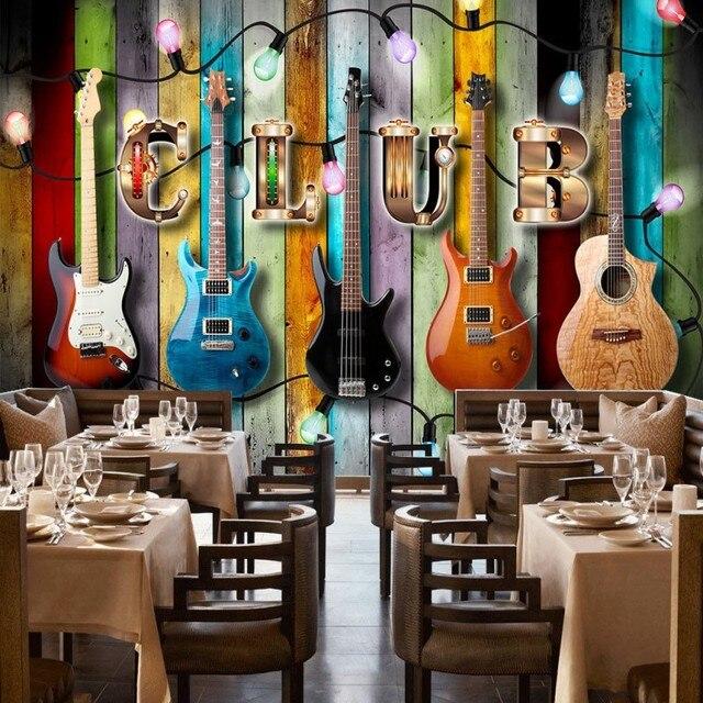Papel Pintado De Encargo De La Foto Colorida Instrumentos Musicales