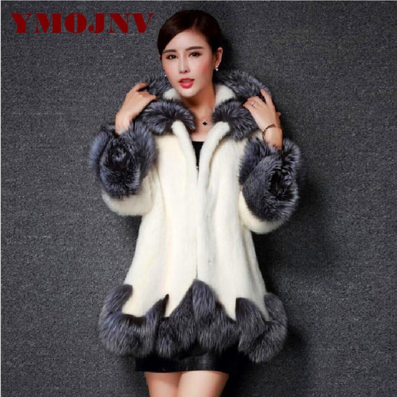 Women Fur Coat 2017 Winter New Design Imitation Fox Fur Coat Mink Europe Luxury Women Long