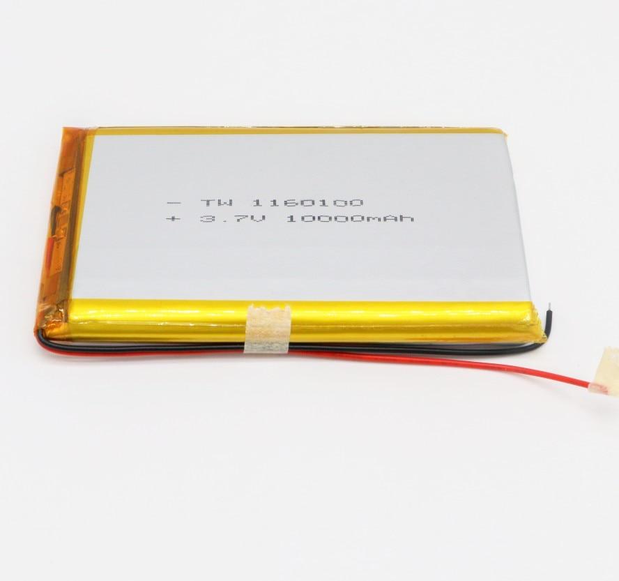Batterie lipo plate rechargeable pour ordinateur portable, taille usine 11mm x 60mm x 100mm, haute capacité 3.7v, épaisseur 11mm, 10000mah
