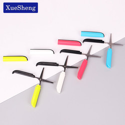 2PCS Candy Hidden Creative Pen Design Student Safe Scissors Paper Cutting Art Office School Supply Stationery DIY Tool