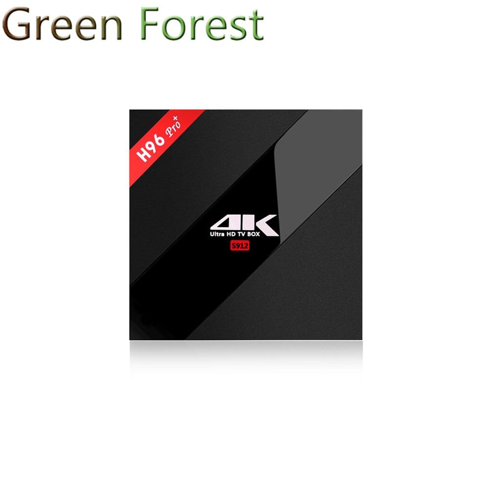ФОТО H96 Pro Plus Android TV Box Amlogic S912 Octa-Core 2G/16G Marshmallow Tv Box 2.4G/5.8GHz Wifi HDMI 4K HDR BT4.1 Media Player