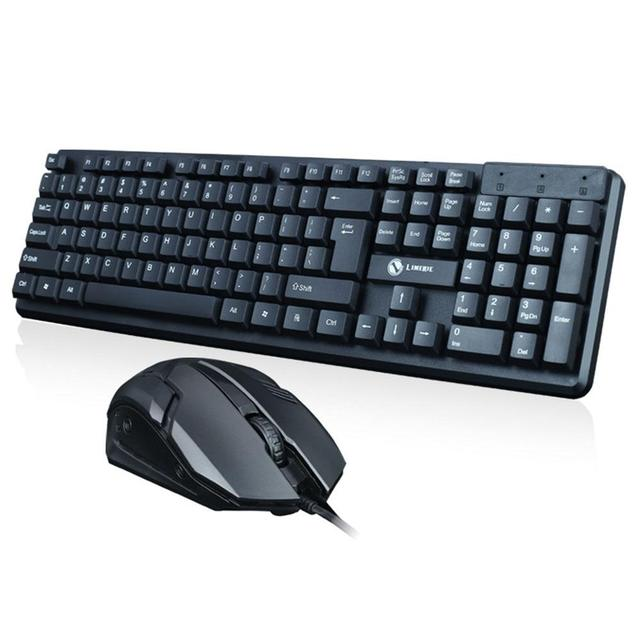 80e730d6595 EastVita T13 Keyboard and mouse with USB wired General Wired Keyboard Mouse  Set USB Desktop Laptop