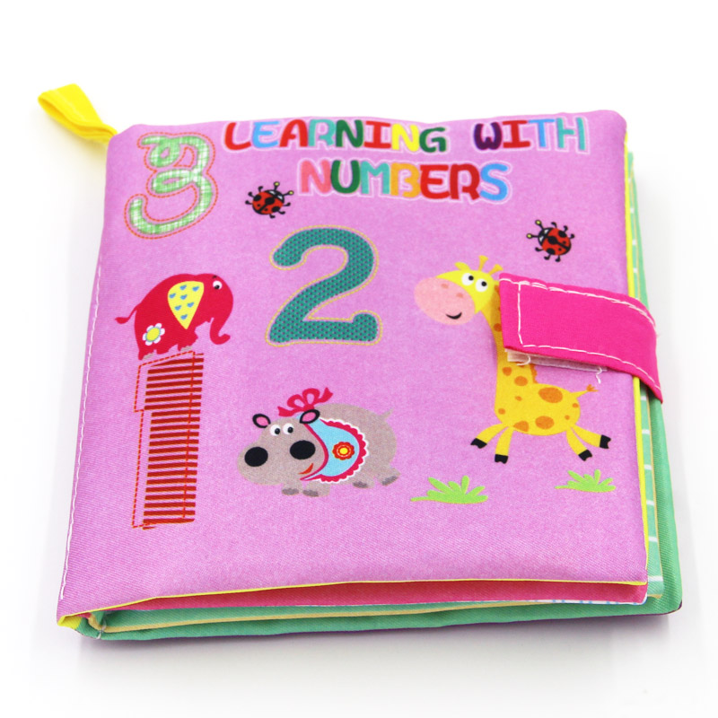 New 4 Style 0-36 Months  Baby Toys Soft Cloth Books Rustle Sound Infant Educational Stroller Rattle Toy Newborn Crib Bed Baby