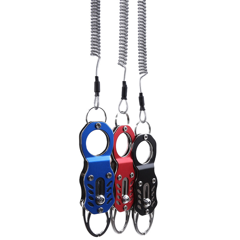 Portable Outdoor Fish Lip Clip Folding Gripper Ultra Light Weight With Retention Rope Outdoor Portable Fishing Equipment Tools|Fishing Tools| |  - title=