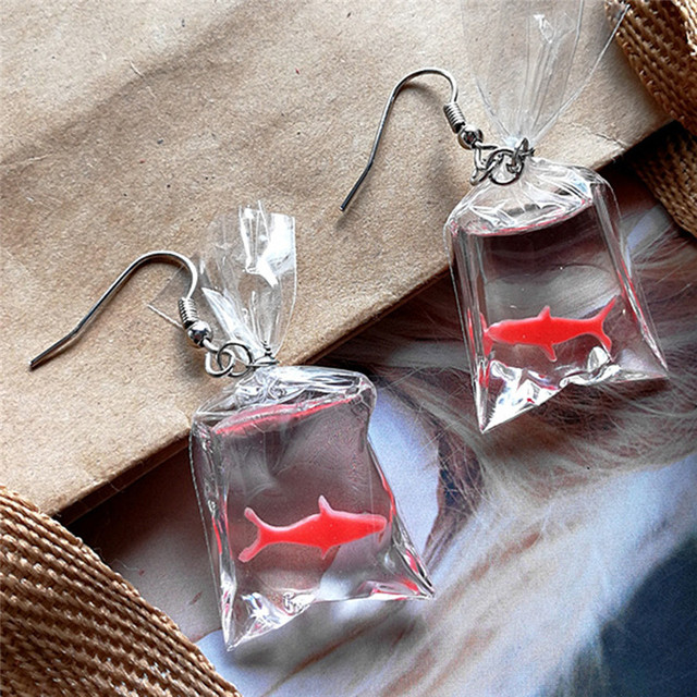 Women's Creative Style Koi Fish Drop Earrings 3