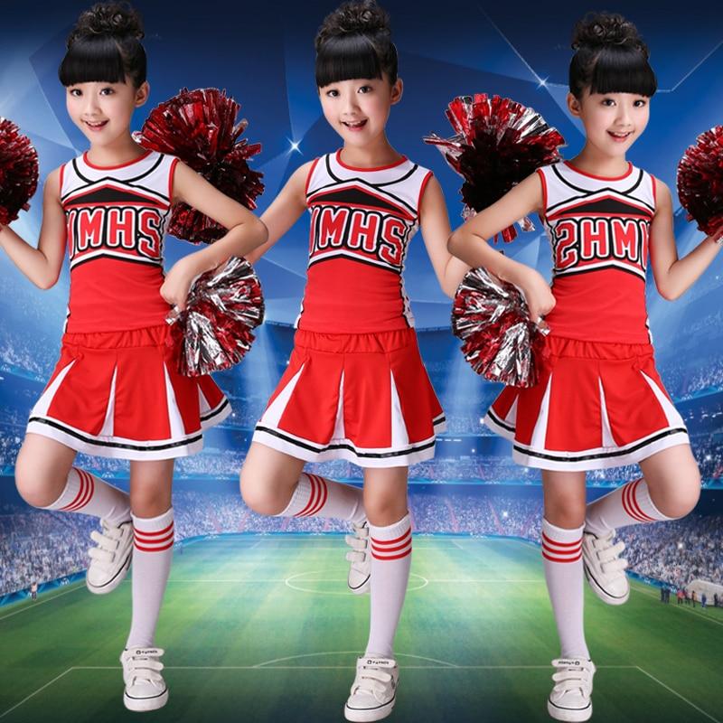 Girls Children Academic Dress School Uniforms Set Kid Girls Gymnastics Costumes Boy Competition Suit Girl Cheering Squad Suits