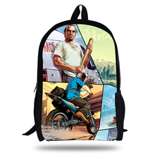 2018 Newest Backpack Grand theft auto Game Printing Children School Bags Boys Teenage Girls GTA 5 POP PC Casual Backpacks
