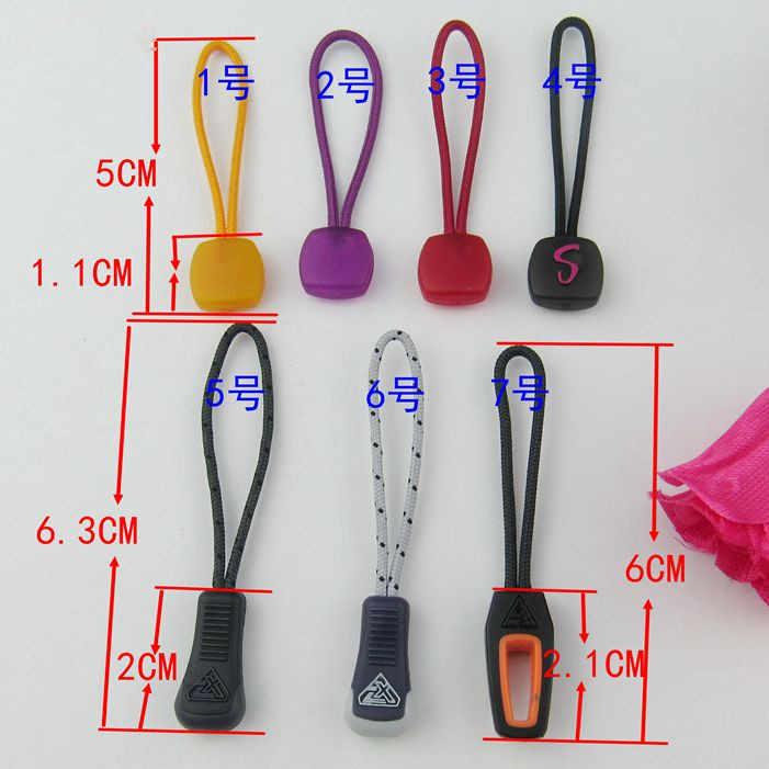 10Pcs Zipper Pull Cord Zip Puller Zip Fastener Zip Slider Replacement Sea Blue