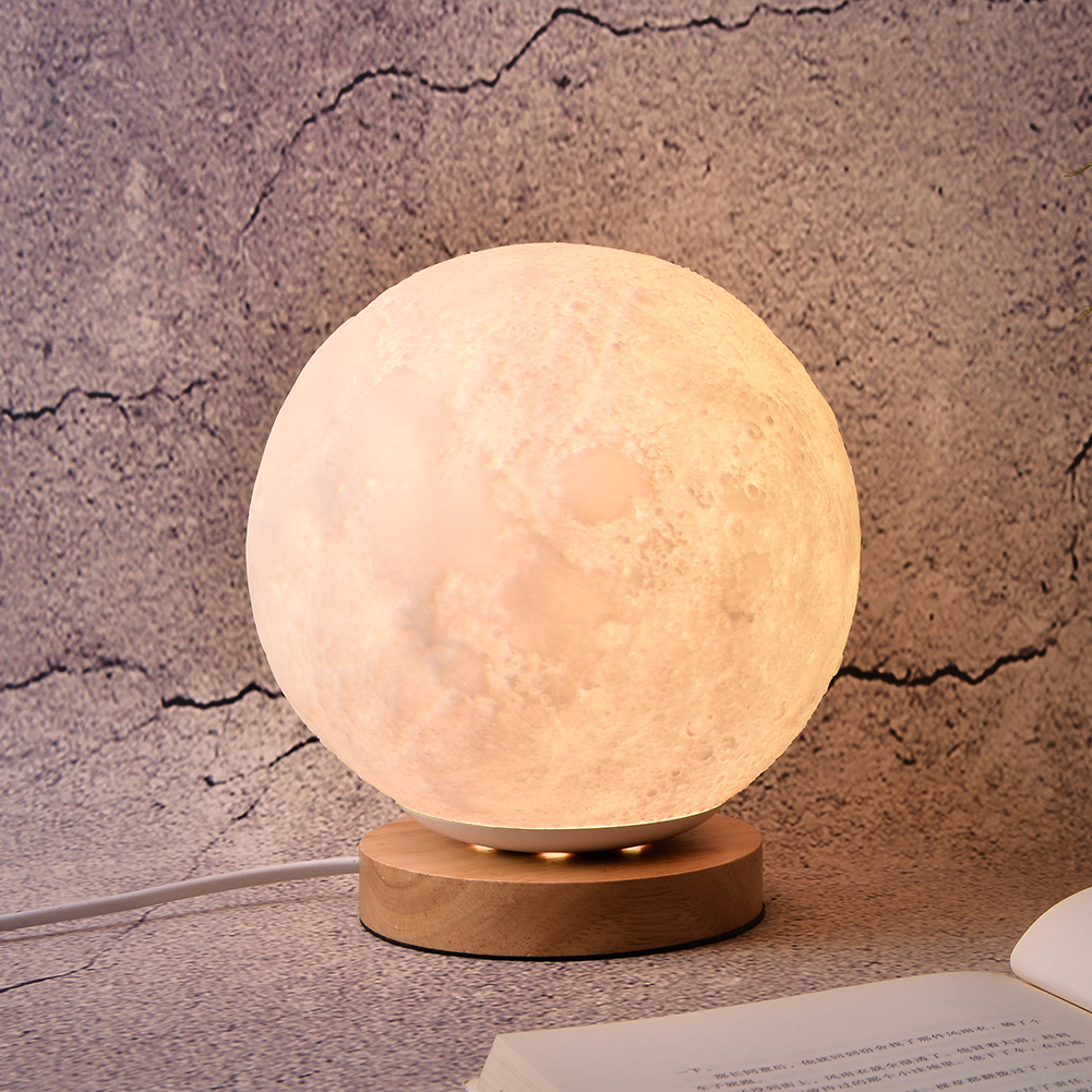 18CM/20CM Night Book Light Bedside Lamp LED Night Light Moon Lamp 3D Print Moonlight Luna Touch 2 Colors Change For Home Decor magnetic floating levitation 3d print moon lamp led night light 2 color auto change moon light home decor creative birthday gift